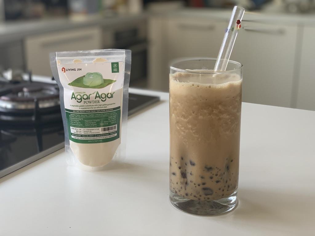 Boba made from scratch using agar agar powder